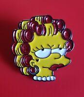 The Simpsons Pin Lisa Simpson Enamel Retro Metal Brooch Badge Lapel