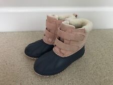 Toddler Girl Old Navy Size 11 Snow Boots Duck Boots Navy Pink