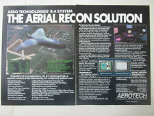 1/1989 PUB AEROTECH AERO TECHNOLOGIES R-4 SYSTEM AERIAL RECONNAISSANCE DRONE AD
