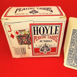 Playing Cards Hoyle Official Jumbo No. 1091 Bonus 6-Pack 3 Red 3 Blue Packs