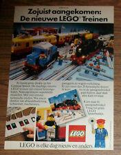 Seltene Werbung LEGO Trains Eisenbahn 7740 Trans-Europa-Express 7750 Zug NL 1981