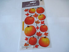 Scrapbooking Stickers Sticko Autumn Fall Pumpkins Small Large Leaves
