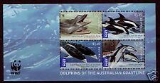 AUSTRALIE 2009 WWF DAUPHINS BLOC-FEUILLET NON MONTÉS EXCELLENT ÉTAT, MNH