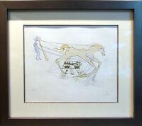 """Salvador Dali """"Westinghouse Air Brake"""" from Leonardo da Vinci 1973 AUTHENTIC ART"""
