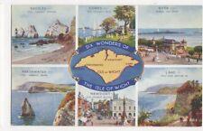 Six Wonders Of The Isle Of Wight Brian Gerald Art Postcard 462a