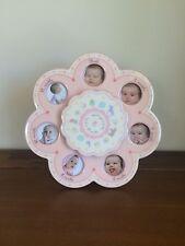 Nursery Newborn Pink Musical First 12 Months Photo Frame New Baby Girl Gift