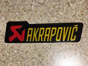 AKRAPOVIC LARGE Aluminium Heat Resistant Sticker Emblem badge Decal Mx Exhaust