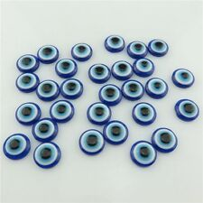 19967 70pcs Loose 12mm Blue Evil Eye Acrylic Flatback Cabochon Jewelry Findings