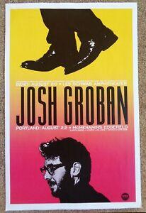 JOSH GROBAN 2019 Gig POSTER Portland &  Bend Oregon Edgefield Concert