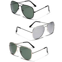 3 PACK Polarized Retro Vintage 80s Aviator Sunglasses Men Women Glasses Bulk Lot