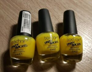 technic party brights 3x12ml nail varnish in MIMOSA (bright yellow)