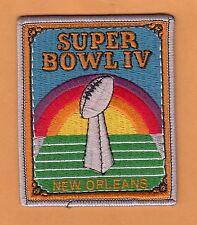 1970 SUPER BOWL IV SB4 LARGE PATCH KANSAS CITY CHIEFS MINNESOTA VIKINGS WILLABEE
