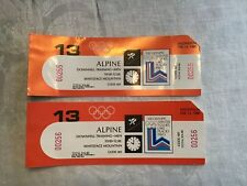 1980 Lake Placid Winter Olympics Tickets For Men's Alpine Downhill Ski Training
