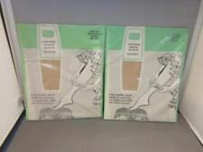Vtg Sears 2 Pair Sheer Seamless All Nylon Stockings in Taupette Sz 9.5 Medium