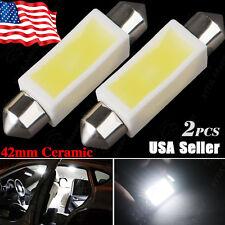 2 X White 42MM Ceramic 3W Festoon Dome Map Interior LED Light bulb 211-2 578 569