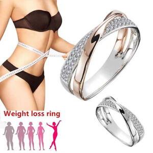 Gewichtsverlust Kristall Strass Ring Abnehmen Gesundheitsring Magnetischer ScBOD