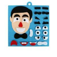 Kindergarten Children DIY Puzzle Game Toys Pupils Expressions Sticke A2G8 A0V6