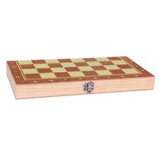 Ajedrez Backgammon Damas Set Peque/ño 3 en 1 Madera