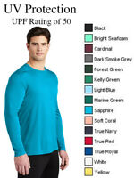 Sport Tek ST420LS Moisture Wicking UV Protection Long Sleeve Shirt UPF 50