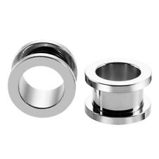 1,6MM - 20MM EAR TUNNEL SCREW BACK STAINLESS STEEL PLUG PIERCING ROSE GOLD PLUGS