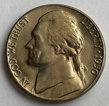 1950-D JEFFERSON NICKEL - GOLD-TONED UNC  -   KEY DATE  -  FREE SHIPPING!