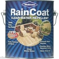 4 Gal Clear Matte Wolman RainCoat Tinted Deck Fence Water-Based Repellent 12366