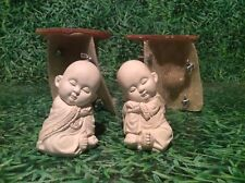 LATEX ONLY MOULD LEFT AND RIGHT PAIR BUDDHAS 10CM TALL ORNAMENT MOULD©