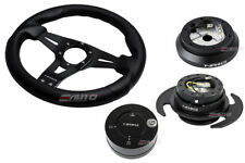NRG 320mm Sniper L Steering Wheel BK St CF S 100H Hub Gen3 Black Release Lock LB