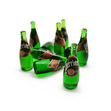 10Pcs Dollhouse Miniature 1:6 Model Perrier Sparkling Water Soda Drink Bottles