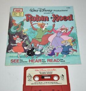 Walt Disney Storyteller Books Robin Hood & Pete's Dragon - With Cassette Tape
