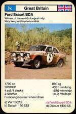 Ford Escort BDA - Rally Cars - Top Trumps Card  (C251)