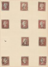 1841 SG8 1d RED BROWN (SHADES) 79 USED HINGED TO ALBUM PAGES UNPLATED GOOD LOT
