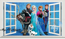Large Disney Frozen Elsa Anna Olaf 3D Wall Decals Removable Sticker  Kids Decor