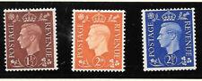 **149 George VI Sideways Wmk SG#464-6 MH