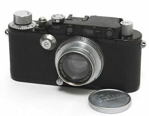 Leica II / III camera black with chrome buttons and Summar 2/5cm full working