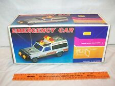 Vintage Safari Scale Model Battery Operated Emergency Police Car New