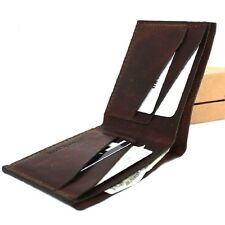 Men's real Leather wallet 4 Credit Card Slots 1 Bill Compartment Slim Handmade s