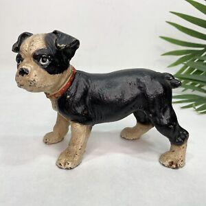 CAST IRON Boston Terrier PUPPY DOG Door Stop 1920-1930s HUBLEY?
