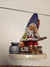 "Vintage 1970 Goebel W. Germany Co-Boy Gnome ""Bob The Bookworm"" Well 510 ~7"" Tall"