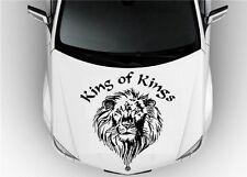 Hood Auto Car Vinyl Decal Stickers Animals King LEO Lion Tribal Tattoo 7119