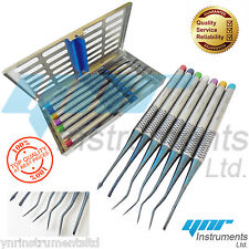 YNR® Mini Root Elevator 7 Luxating Precise Tips Sterlization Cassettes Dental CE