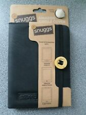"""SNUGGS - BLACK FAUX LEATHER FUR LINED CASE / COVER  FOR AMAZON KINDLE 6"""" DEVICE"""