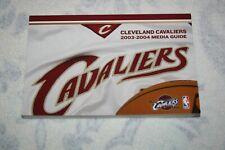 2003-2004 Cleveland Cavaliers MEDIA GUIDE * LeBron James Rookie Season - EX/NM