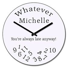 Personalised Engraved Whatever' Design Wall Clock - Gift Engraving