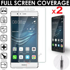 2x FULL SCREEN Face Curved TPU Screen Protector Covers For Huawei P9