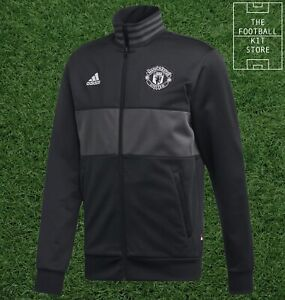adidas Manchester United 3S Track Top Mens - Man Utd Football Jacket - All Sizes