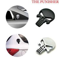 Punisher Emblem Motorcycle 3D Car Sticker Devil Skull Metal Decal Badge