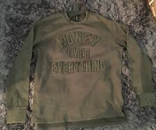 Auth Rocksmith Pullover Green Money Over Everything L Zip Supreme Top Shirt Rock