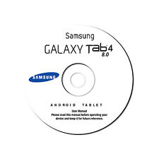 Samsung Galaxy Tablet Tab 4-8.0 (Wi-Fi-SM-T330) User Manual Guide on CD (eBook)