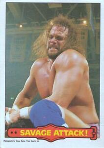 1985-86 O-Pee-Chee WWF Series 2 Wrestling #11 Savage Attack! Randy Savage